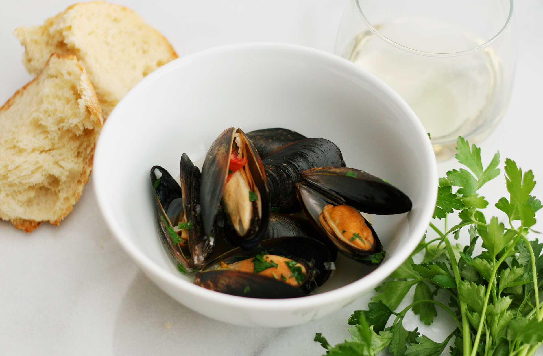 how to make mussels in white wine