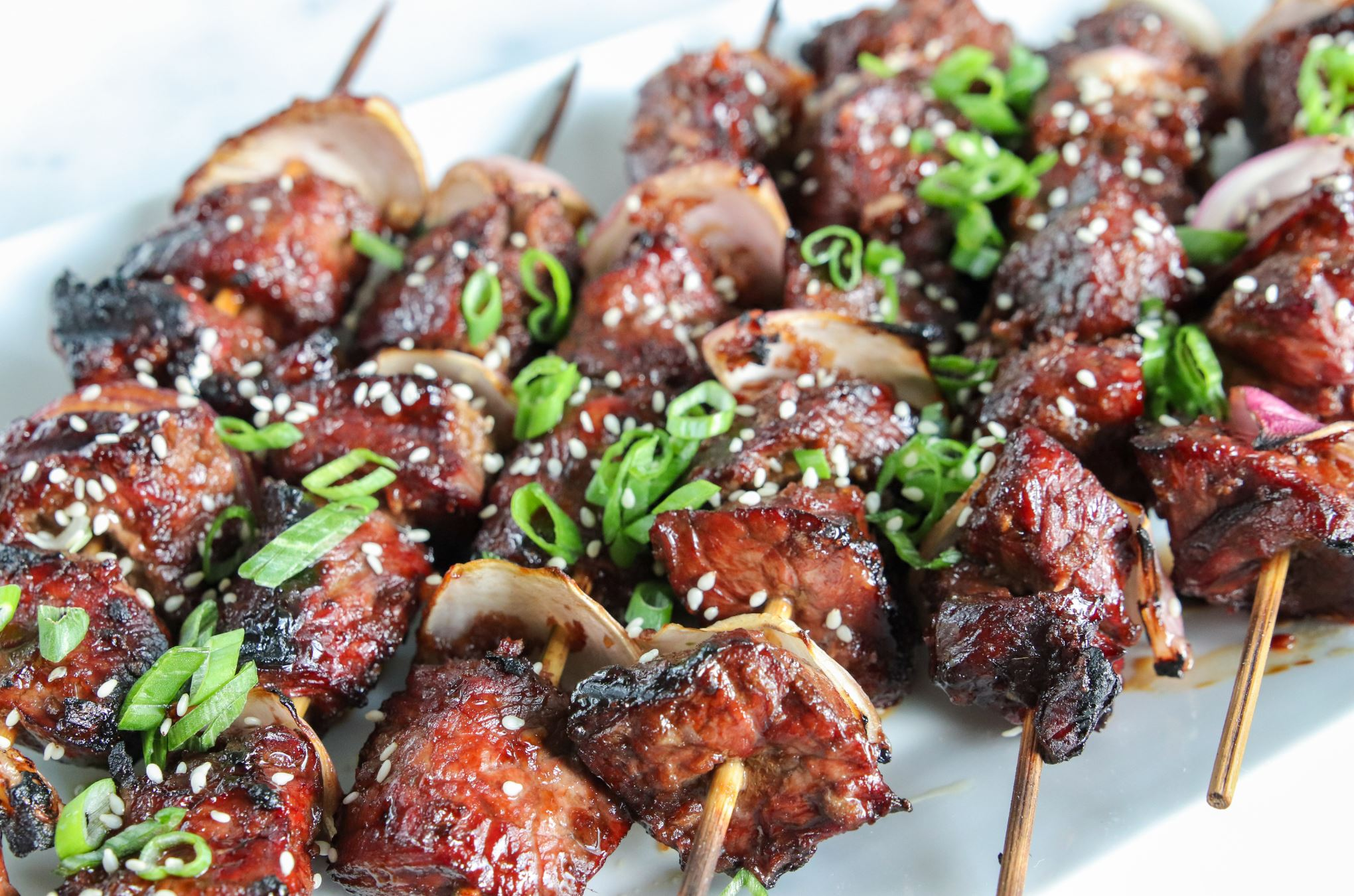 Grilled Asian Red Onion Steak Kebabs Simple Sassy And Scrumptious